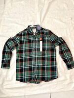 St Johns Bay  FLANNEL Green Black  Plaid Long Sleeve  Shirt NEW Size XL