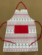 New listing White/Red Women Kitchen Washable Adult Chef Bbq Cooking Baking Party Aprons