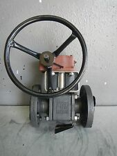 "AVCO 2"" 1000 SERIES STAINLESS STEEL SEATED BALL VALVE w MASTERGEAR M10 ACTUATOR"
