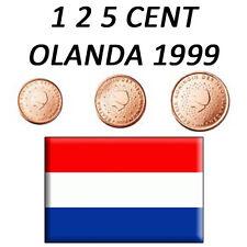 1 + 2 + 5 CENT 1999 OLANDA HOLLAND HOLANDA HOLLANDE - FDC UNC DA ROTOLINO