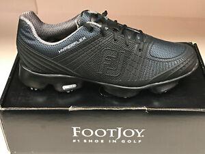 NEW FootJoy Hyperflex 51043 Black Men's Golf Shoes 11.5M Were $190