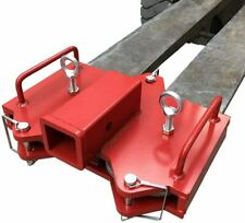 """2"""" Forklift Towing Attachment Trailer Hitch Receiver for Dual Pallet Forks"""