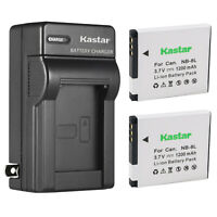 Kastar 2x Battery + Charger for Canon NB-8L PowerShot A2200 A3100 A3200 A3300 IS