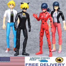 Miraculous Ladybug Noir Agreste Adrien Action Figure Kids Gift Doll Toys 4 PCS