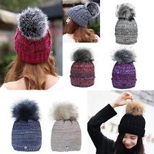 Glamexx24 Winter Strickmütze Pelzmütze mit Große Pelz Bommel Pompon Beanie Hüte
