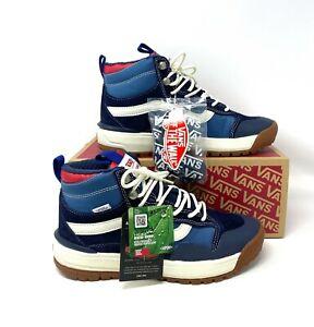 Vans Ulrarange Exo HI MTE Navy Suede Blue Canvas Sneakers Boot Men's VN0A4UWJ2WI