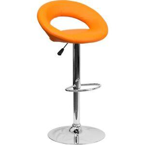 Flash Furniture Orange Contemporary Barstool, Orange - DS-811-ORG-GG