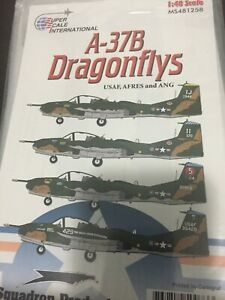 SUPER SCALE DECAL  #481258  1/48TH SCALE A-37B DRAGONFLYS   (GPM)