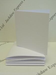"""20 x Watercolour Greeting Cards Blank PREMIUM White S/F 280gsm 7"""" x 7"""" AM265"""