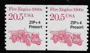 US Scott #2264, PAIR 1988 Fire Engine 20.5c VF MNH