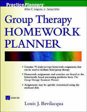 NEW Group Therapy Homework Planner (Book with Diskette) by Louis J. Bevilacqua