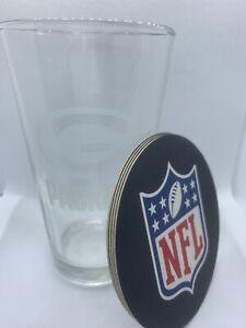 Green Bay Packers 16oz Pint Glass & Coaster Set