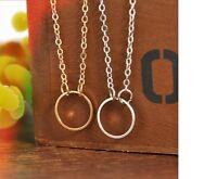 Women's Dainty Gold Silver Karma Circle Pendant Choker Necklace Jewellery Gift