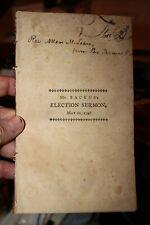 Election Sermon Azel Backus 1798 Hartford Ct 1st Printing Absalom's Conspiracy