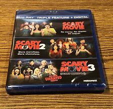 SCARY MOVIE TRIPLE FEATURE Blu-ray 1 2 3 Movie Set Comedy Marlon Wayans NEW