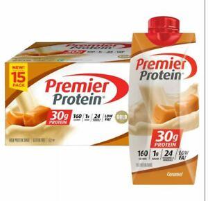 Premier Protein High Protein Shake, Caramel (11 fl. oz., 15 pk.)   Fresh