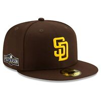 San Diego Padres New Era 2020 Postseason Side Patch 59FIFTY Fitted Hat - Brown