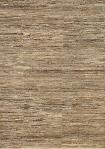 Distressed Gabbeh Striped Oriental Area Rug Contemporary Hand-knotted Wool 4x6