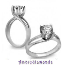 1.25 CT G VS2 NATURAL ROUND DIAMON SOLITAIRE RING 14K WHITE GOLD SIZE SELECTIBLE