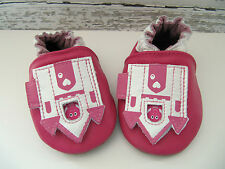 ROBEEZ  SOFT SOLES PEEK A BOO CASTLE SIZE 0-6 MONTHS PINK LEATHER  NIB