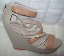 Joe's Kemi Sandals Wedges Size 9.5 natural new