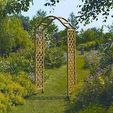 Gardman Wooden Garden Arch Tan Natural Wood & Ground Spikes
