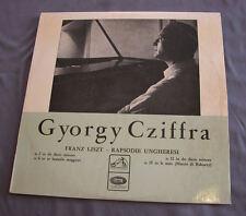 """Vinilo LP 12"""" 33 rpm GYORGY CZIFFRA - Franz Liszt  - Rapsodie Ungheresi"""
