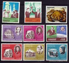 150T3 PARAGUAY 9 timbres neufs ,serie personnages célèbres, divers