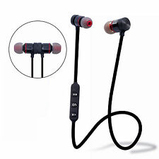 Bluetooth Sport Kopfhörer Headsets In Ear Wireless Ohrhörer Magnetverschluss+Mik