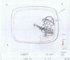 Simpsons Lisa Original Art Animation Production Pencils Eabf23 Sc-227 Comp A