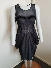 EMERGE Black Corset Like Dress.. .. Sz 14