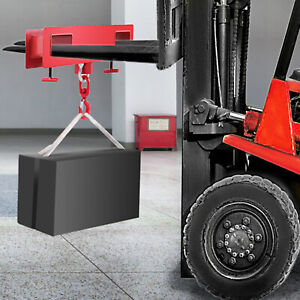 2T 4400LBS Forklift Lifting Hook Mounted Industrial Heavy Duty Easy Operation