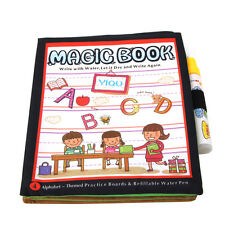 Kids Letter Magic Water Drawing Book+Pen Intimate Coloring Water Painting Cloth