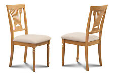 SET OF 4 DINING SIDE CHAIR WITH SOFT-PADDED SEATS in OAK FINISH