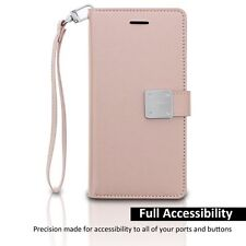 For LG STYLO 2 PLUS  - PU Leather Card Wallet Diary Pouch Premium Case ROSE GOLD