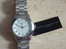 French Connection SFC109SM Watch White Dial Analogue Stainless Steel Strap BNIB
