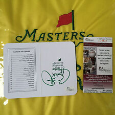 Rory Mcilroy Signatured Autographed Augusta National Scorecard Masters Green JSA