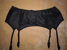 FOLIES BY RENAUD France L New Black Faux Leather Suspender Garter Belt Fetish