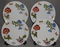 Set (4) BIA Cordon Bleu CAROLINE PATTERN Colorful Florals SALAD PLATES