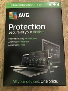 *NEW* AVG Protection Unlimited Devices 1 Year SEALED