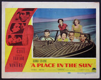 A PLACE IN THE SUN ELIZABETH TAYLOR MONTGOMERY CLIFT 1951 LOBBY CARD #7