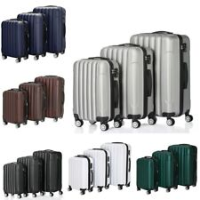 "3 Piece Travel Luggage Sets Expandable Spinner Suitcase Set With Lock 20""24""28"""