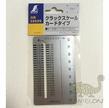 SHINWA CRACK SCALE CARD INSPECTION GAUGE METRIC STAINLESS STEEL 58699 JAPAN
