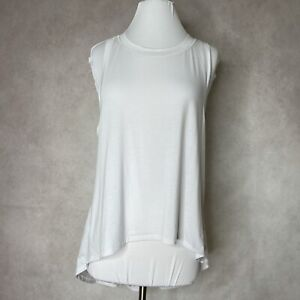 Athleta Essence Relaxed White High Low Tank Size Small