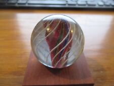 Caged Divided Core Swirl hand made marble 1.972 inch w Free ship!