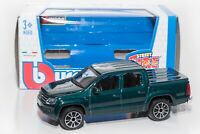 Volkswagen Amarok in Green, Bburago 18-30232, scale 1:43, toy car model gift