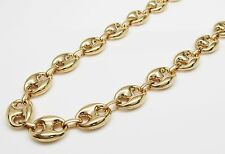 """10K Gold Yellow Puff Gucci Link Chain 32"""" 12mm wide 49.2 Grams"""