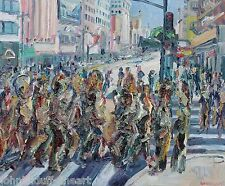 Rush Hour Los Angeles Impressionism Cityscape John Kilduff