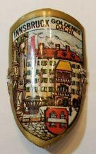 Innsbruck, Austria Stocknagel, Hiking Medallion, Badge, Shield, Pin, Used GP2-9