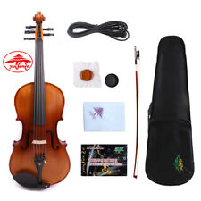 Yinfente 5string Electric Acoustic Violin 4/4 Spruce+Maple Free Case+Bow #US